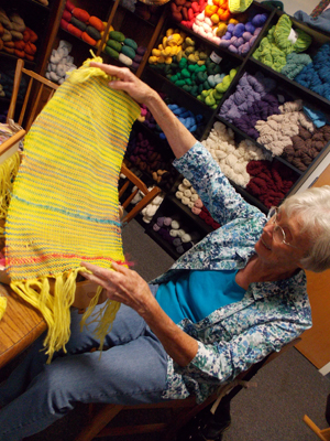 Nancy's weaving