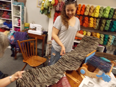 Danette's weaving