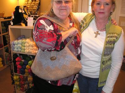 Entrelac purse