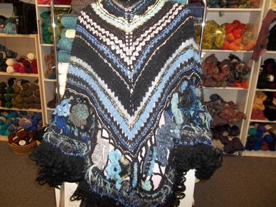 Free form shawl