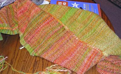 Weaving with hand spun yarns
