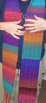 Woven Noro scarf
